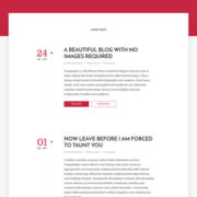 Typography Blogger Templates