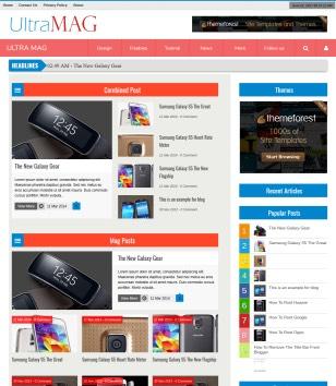 Ultra Mag Responsive Blogger Templates