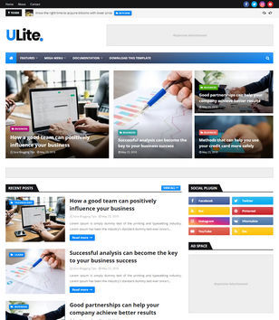 UltraLite Blogger Templates