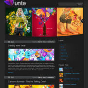 Unite Dark Blogger Templates
