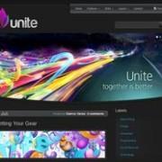 Unite Dark Blogger Template