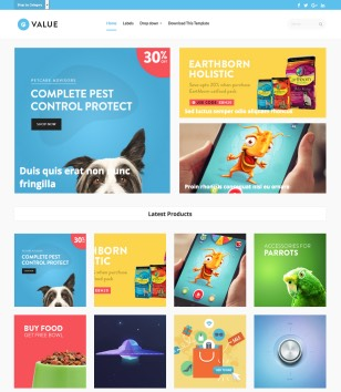 Value eCommerce Blogger Templates