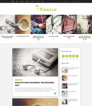 Vanice Blogger Templates