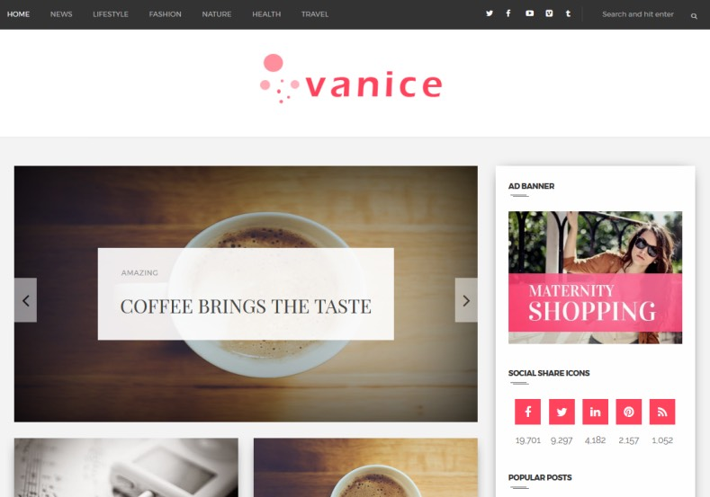 Vanice Modern Blogger Template. Blogger Templates 2015 free themes
