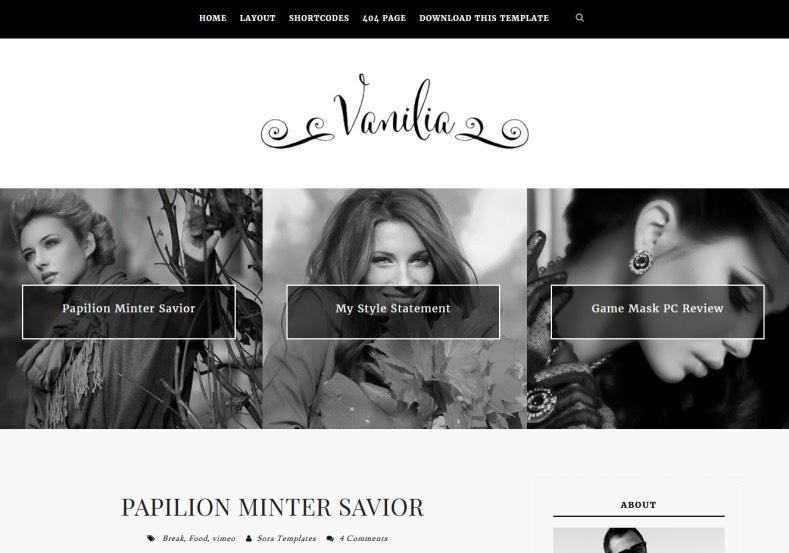Vanilia Responsive Blogger Template. Blogger Templates 2015, Free blogger templates, blogspot themes