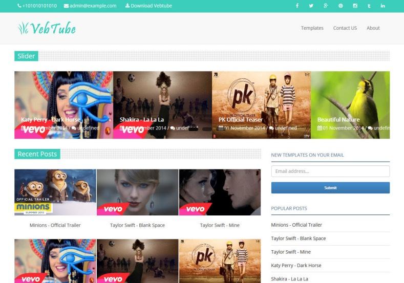 VebTube Blogger Template best blogger templates free VebTube Blogger Template