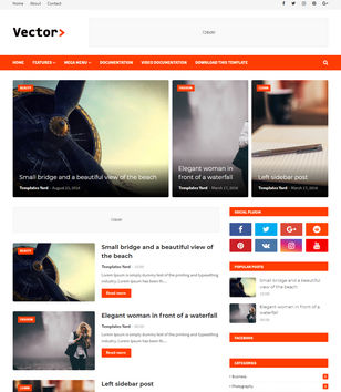 Vector Blogger Template Blogspot Templates 2019