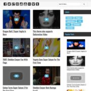 Vegeta YouTube Dailymotion Videos Blogger Templates
