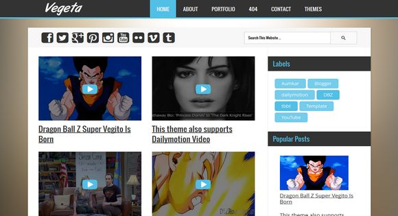 motion 4 templates free download - vegeta youtube dailymotion videos blogger template 2014
