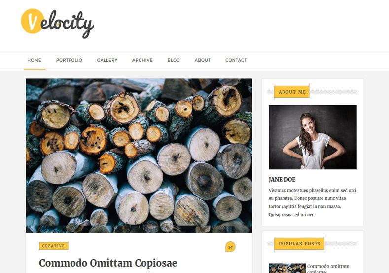 velocity responsive blogger template blogspot templates 2018. Black Bedroom Furniture Sets. Home Design Ideas
