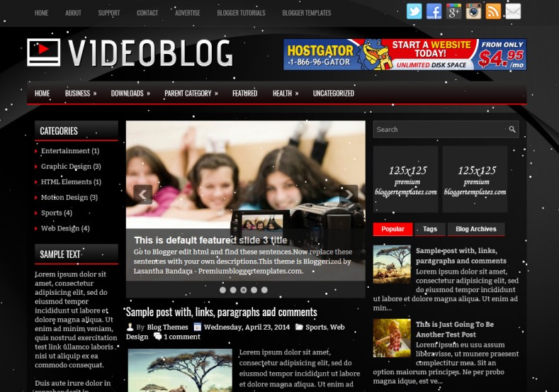 VideoBlog Blogger Template. Blogger Themes. Best suitable for news blog templates. Ads ready blogspot templates help for add adsense ad code and easily showing adsence ads in your blog. Adapted from WordPress templates are converted from WordPress themes. It is help for take your rich. Blogger magazine template specially designed for magazine blogs. The writers can utilize this themes for take blog attractive to users. Elegant themes are more used themes in most of the blogs. Minimalist blog templates. Free premium blogger themes means, themes authors release two types of themes. One is premium another one is free. Premium templates given for cost but free themes given for no cost. You no need pay From California, USA. $10 USD, or $20 USD and more. But premium buyers get more facilities from authors But free buyers. If you run game or other animation oriented blogs, and you can try with Anime blog templates. Today the world is fashion world. So girls involve to the criteria for make their life fashionable. So we provide fashion blogger themes for make your fashionable. News is most important concept of the world. Download news blogger templates for publishing online news. You can make your blog as online shopping store. Get Online shopping store blogger template to sell your product. Navigation is most important to users find correct place. Download drop down menu, page navigation menu, breadcrumb navigation menu and vertical dropdown menu blogspot themes for free. Google Guide. Blogging tips and Tricks for bloggers. Google bloggers can get blogspot trick and tips for bloggers. Blog templates portfolio professional blogspot themes, You can store your life moments with your blogs with personal pages templates. Video and movie blogs owners get amazing movie blog themes for their blogs. Business templates download. We publish blogger themes for photographers. Photographers easily share photos via photography blog themes. St valentine Christmas Halloween templates. Download Slideshow slider templates for free. Under construction coming soon custom blogspot template. Best beautiful high quality Custom layouts Blog templates from templateism, SoraTemplates, templatetrackers, simple, cute free premium professional unique designs blog themes blogspot themes. Seo ready portfolio anime fashion movie movies health custom layouts best download blogspot themes simple cute free premium professional unique designs xml html code html5.