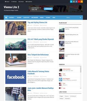 Vienna Lite 2 Blogger Templates