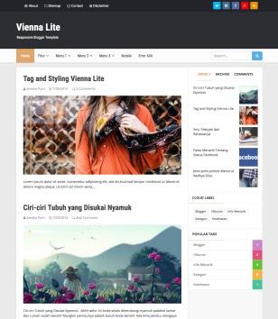 Vienna Lite Blogger Templates
