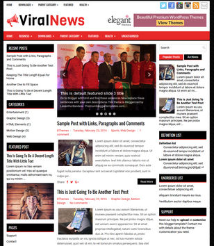 ViralNews Blog Blogger Templates