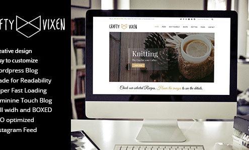 Vixen Blog - Responsive DIY WordPress Blog