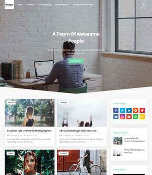 Vozga Blogger Templates
