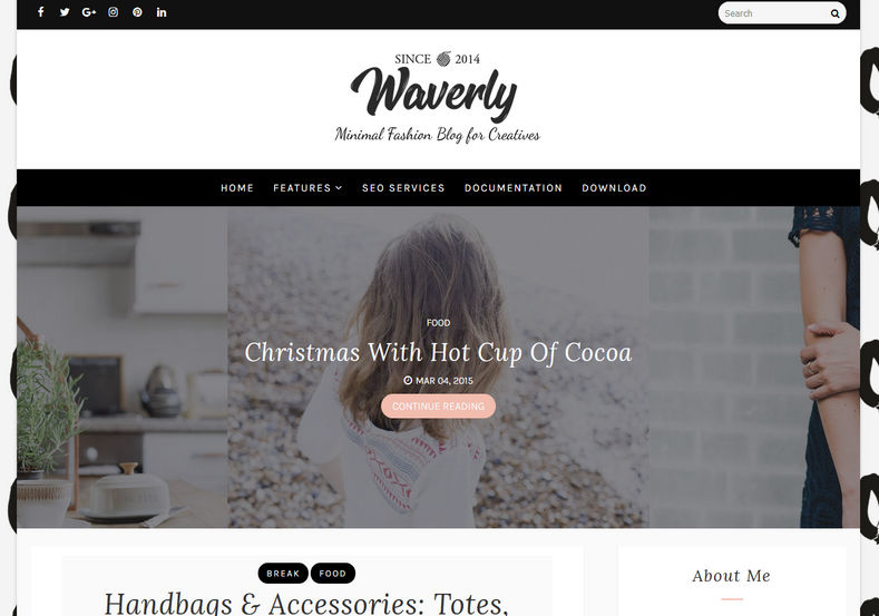 Waverly Blogger Template is a higly stylish personal blogspot theme suitable for lifestyle blogs and minimal design lover bloggers