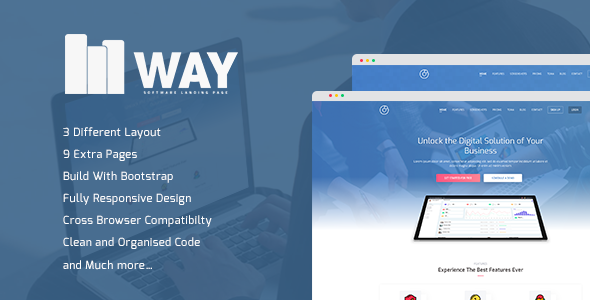 Way - Software Landing Page