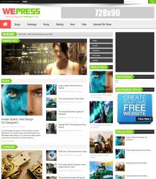 WePress Light Blogger Templates