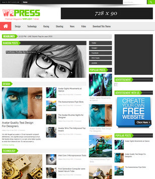 WePress Multi Ads Blogger Templates