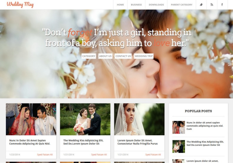 Wedding Mag Responsive blogger template. Free Blogger templates. Blog templates. Template blogger, professional blogger templates free. blogspot themes, blog templates. Template blogger. blogspot templates 2013. template blogger 2013, templates para blogger, soccer blogger, blog templates blogger, blogger news templates. templates para blogspot. Templates free blogger blog templates. Download 1 column, 2 column. 2 columns, 3 column, 3 columns blog templates. Free Blogger templates, template blogger. 4 column templates Blog templates. Free Blogger templates free. Template blogger, blog templates. Download Ads ready, adapted from WordPress template blogger. blog templates Abstract, dark colors. Blog templates magazine, Elegant, grunge, fresh, web2.0 template blogger. Minimalist, rounded corners blog templates. Download templates Gallery, vintage, textured, vector, Simple floral. Free premium, clean, 3d templates. Anime, animals download. Free Art book, cars, cartoons, city, computers. Free Download Culture desktop family fantasy fashion templates download blog templates. Food and drink, games, gadgets, geometric blog templates. Girls, home internet health love music movies kids blog templates. Blogger download blog templates Interior, nature, neutral. Free News online store online shopping online shopping store. Free Blogger templates free template blogger, blog templates. Free download People personal, personal pages template blogger. Software space science video unique business templates download template blogger. Education entertainment photography sport travel cars and motorsports. St valentine Christmas Halloween template blogger. Download Slideshow slider, tabs tapped widget ready template blogger. Email subscription widget ready social bookmark ready post thumbnails under construction custom navbar template blogger. Free download Seo ready. Free download Footer columns, 3 columns footer, 4columns footer. Download Login ready, login support template blogger. Dro