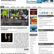 Wire News Blogger Templates