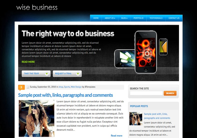 WiseBusiness Blogger Template. Blogger Themes. Free Blogspot templates for your blogger blog. Best suitable for news blog templates. Best Ads ready blogspot templates help for add adsense ad code and easily showing adsence ads in your blog. Adapted from WordPress templates are converted from WordPress themes. It is help for take your rich. Blogger magazine template specially designed for magazine blogs. The writers can utilize this themes for take blog attractive to users. Elegant themes are more used themes in most of the blogs. Use minimalist blog templates for rich look for your blog. Free premium blogger themes means, themes authors release two types of themes. One is premium another one is free. Premium templates given for cost but free themes given for no cost. You no need pay From California, USA. $10 USD, or $20 USD and more. But premium buyers get more facilities from authors But free buyers. If you run game or other animation oriented blogs, and you can try with Anime blog templates. Today the world is fashion world. So girls involve to the criteria for make their life fashionable. So we provide fashion blogger themes for make your fashionable. News is most important concept of the world. Download news blogger templates for publishing online news. You can make your blog as online shopping store. Get Online shopping store blogger template to sell your product. Navigation is most important to users find correct place. Download drop down menu, page navigation menu, breadcrumb navigation menu and vertical dropdown menu blogspot themes for free. Google Guide to blogging tips and tricks for bloggers. Google bloggers can get blogspot trick and tips for bloggers. Blog templates portfolio professional blogspot themes, You can store your life moments with your blogs with personal pages templates. Video and movie blogs owners get amazing movie blog themes for their blogs. Business templates download. We publish blogger themes for photographers. Photographers easily share photos via photography blog themes. St valentine Christmas Halloween templates. Download Slideshow slider templates for free. Under construction coming soon custom blogspot template. Best beautiful high quality Custom layouts Blog templates from templateism, SoraTemplates, templatetrackers, simple, cute free premium professional unique designs blog themes blogspot themes. Seo ready portfolio anime fashion movie movies health custom layouts best download blogspot themes simple cute free premium professional unique designs xml html code html5.