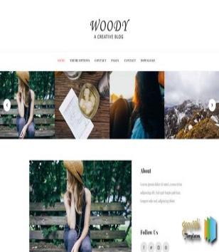 Woody Blog Blogger Templates