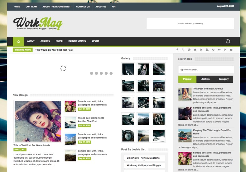 Workmag Blogger Template. Buy premium blogger themes