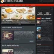 WpRestaurant Blogger Templates