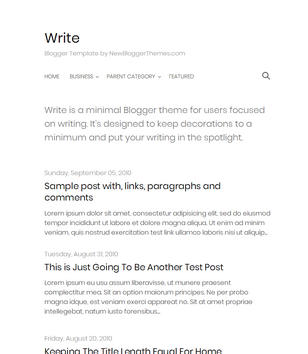 Write Simple Blogger Templates