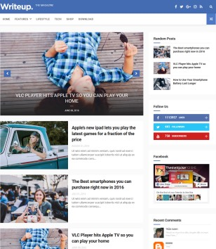 WriteUp Personal Magazine Blogger Templates