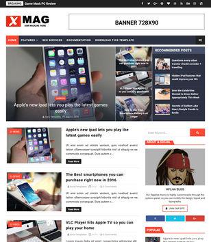 X Mag Blogger Templates