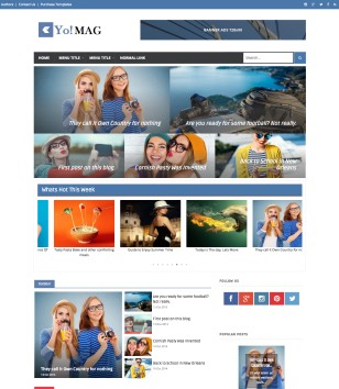 Yo Mag Blogger Templates