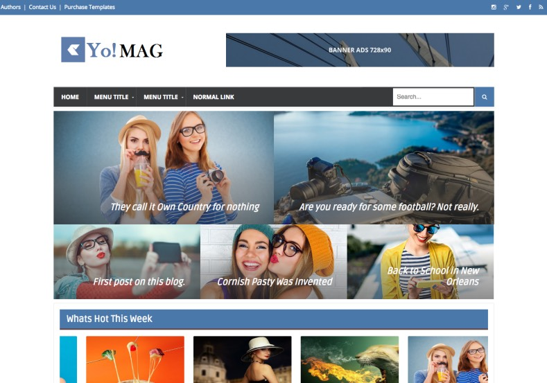Yo Mag Blogger Template. Download latest best and free blogger templates and renovate your blogger blog free. Yo Mag Blogger Template