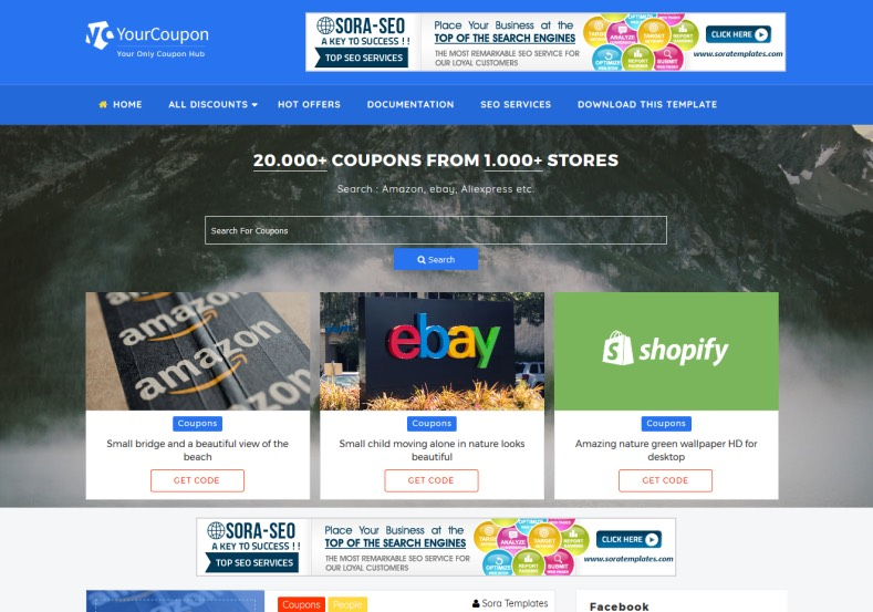 Your Coupon Blogger Template. Best blogger templates 2017 for coupon blogs. You can easily build affiliates sites and you can earn with this template by sharing coupon. Your Coupon Blogger Template.