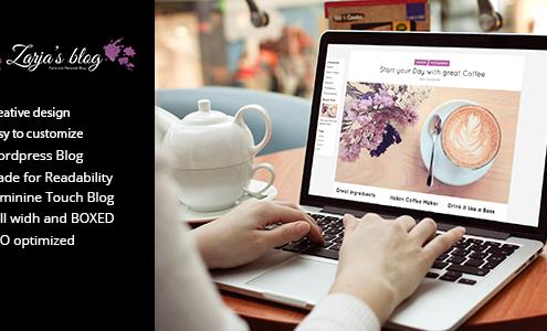 Zarja Blog - WordPress Blog Theme