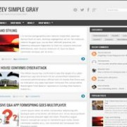 Zikazev Simple Gray Blogger Template