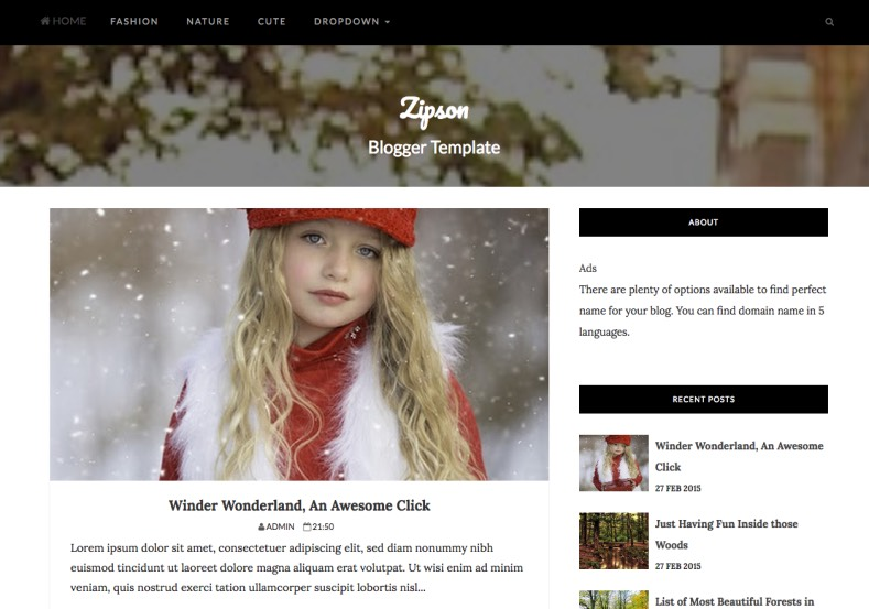 Zipson Blogger Template. Zipson Blogger Template by weblogtemplates. download magazine fashion and photography blogspot themes. Zipson Blogger Template