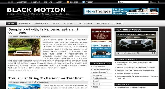 Black motion blogger template free download for Motion 4 templates free download