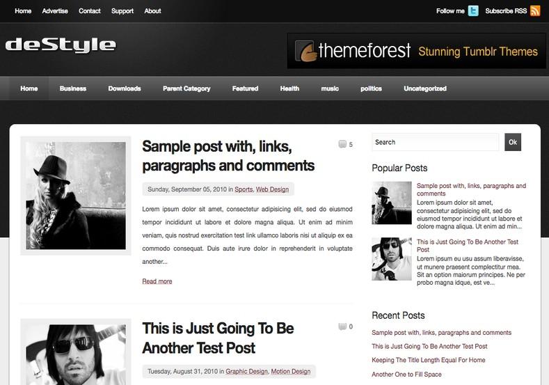 Destyle Blogger Template