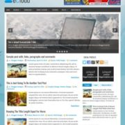 eCloud Blogger Templates