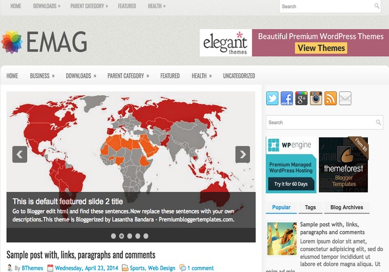 eMag Responsive Blogger Template. Blogger templates 2015. Free blogger templates. blogspot themes