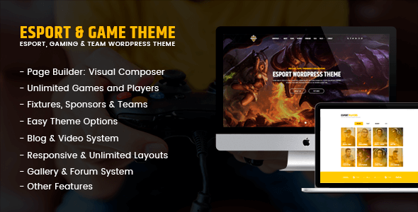 eSport - Gaming WordPress Theme
