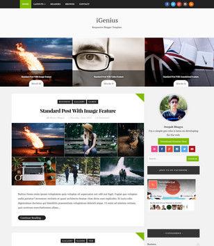 iGenius Blogger Templates