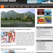 iGreat Black Blogger Templates