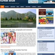 iGreat Blue Blogger Templates