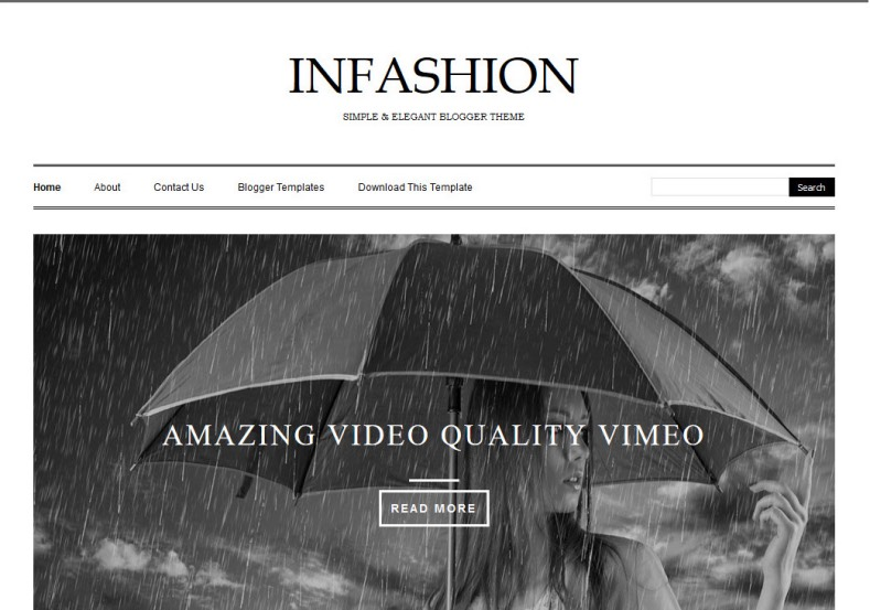iNFashion Blogger Template • Blogspot Templates 2018