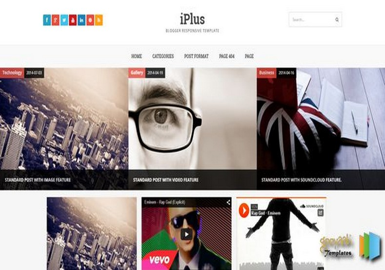 iPlus Retina Responsive Blogger Template. Blogger Themes. Free Blogspot templates for your blogger blog. Best suitable for news blog templates. Ads ready blogspot templates help for add adsense ad code and easily showing adsence ads in your blog. Adapted from WordPress templates are converted from WordPress themes. It is help for take your rich. Blogger magazine template specially designed for magazine blogs. The writers can utilize this themes for take blog attractive to users. Elegant themes are more used themes in most of the blogs. Use minimalist blog templates for rich look for your blog. Free premium blogger themes means, themes authors release two types of themes. One is premium another one is free. Premium templates given for cost but free themes given for no cost. You no need pay From California, USA. $10 USD, or $20 USD and more. But premium buyers get more facilities from authors But free buyers. If you run game or other animation oriented blogs, and you can try with Anime blog templates. Today the world is fashion world. So girls involve to the criteria for make their life fashionable. So we provide fashion blogger themes for make your fashionable. News is most important concept of the world. Download news blogger templates for publishing online news. You can make your blog as online shopping store. Get Online shopping store blogger template to sell your product. Navigation is most important to users find correct place. Download drop down menu, page navigation menu, breadcrumb navigation menu and vertical dropdown menu blogspot themes for free. Google Guide. Blogging tips and Tricks for bloggers. Google bloggers can get blogspot trick and tips for bloggers. Blog templates portfolio professional blogspot themes, You can store your life moments with your blogs with personal pages templates. Video and movie blogs owners get amazing movie blog themes for their blogs. Business templates download. We publish blogger themes for photographers. Photographers easily share photos via photography blog themes. St valentine Christmas Halloween templates. Download Slideshow slider templates for free. Under construction coming soon custom blogspot template. Best beautiful high quality Custom layouts Blog templates from templateism, SoraTemplates, templatetrackers, simple, cute free premium professional unique designs blog themes blogspot themes. Seo ready portfolio anime fashion movie movies health custom layouts best download blogspot themes simple cute free premium professional unique designs xml html code html5.