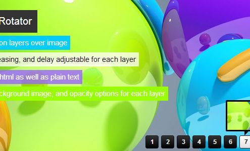 jQuery Banner Rotator Slideshow